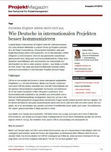 Wie Deutschein internationalen Projekten besser kommunizieren