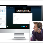 Virtuelles Meeting Skype for Business Mix Quadrat