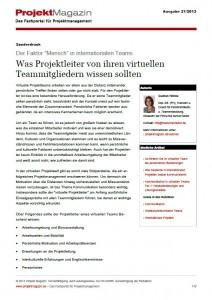 Projektleiter in virtuellen Teams