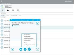 Lync heißt jetzt Skype for Business und hat jetzt mehr das Look & Feel von Skype