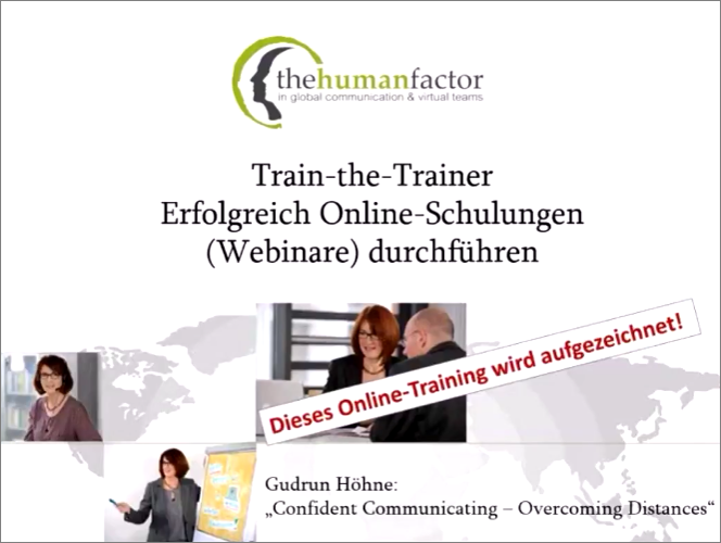 Webinar: Live-online Schulungen durchführen – aus der Ferne die Seminargruppe im Griff!
