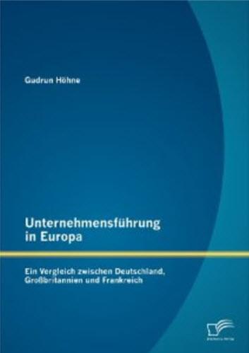 Buch Unternehmensfuehrung in Europa Gudrun Hoehne diplomica