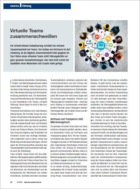 Fuehren von virtuellen Teams - Personalwirtschaft