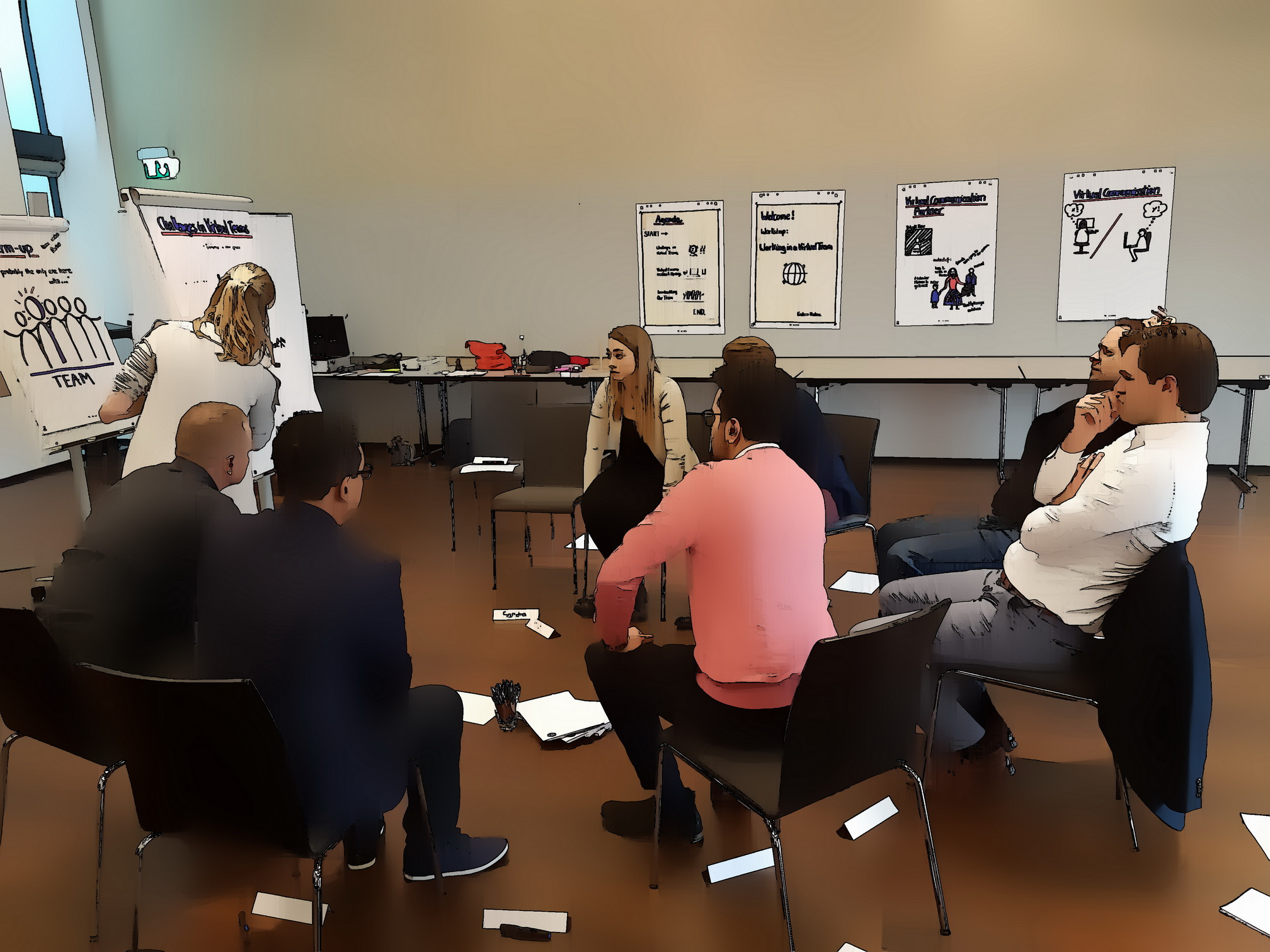 Seminar virtuelle Teams fuehren - Gruppenarbeit und Uebung