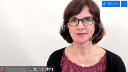 Webinar virtuelle Teams fuehren - Trainerin Gudrun Hoehne